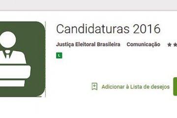 Aplicativo Candidaturas 2016 já pode ser baixado para dispositivos móveis
