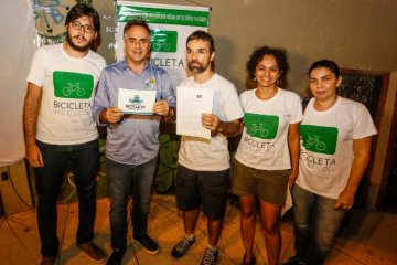 Luciano Cartaxo se encontra com ciclistas e garante ainda mais investimentos na mobilidade urbana