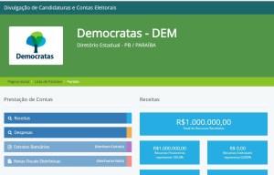 DEM recebe a maior doação de campanha e injeta recursos em candidaturas municipais